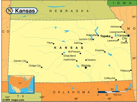 usa map ks kansas city kansas map