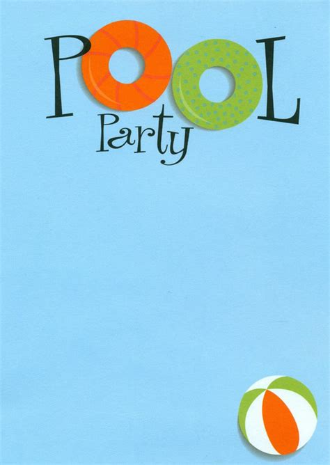 swimming pool party invitations pool design ideas