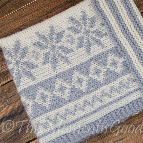 snowflake pattern to knit loom knit fair isle cowl pattern loom knit snowflake cowl