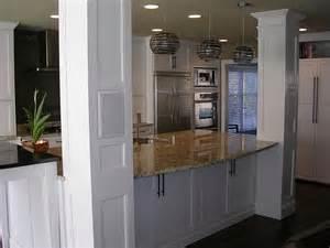 kitchen islands with columns