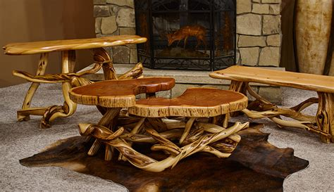 twisted juniper coffee table colorado classics