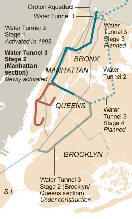 map of new york city tunnels after decades a water tunnel can now serve all of