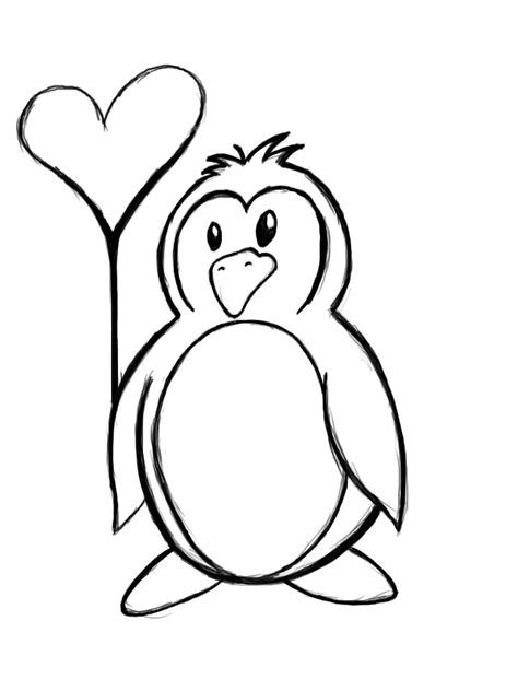 Penguin Clipart Outline by Penguin Outline By Ytrthnu On Deviantart