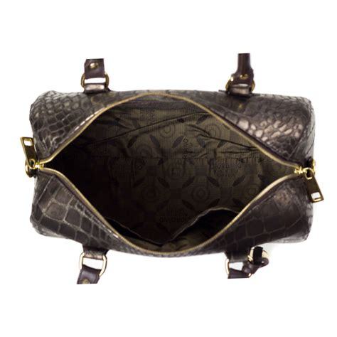 Giordano Original Leather giordano italian made crocodile embossed bronze leather