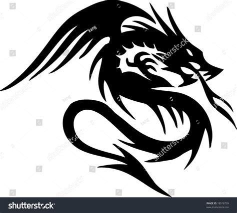 tattoo vector images dragon tribal tattoo stock vector 18018739 shutterstock