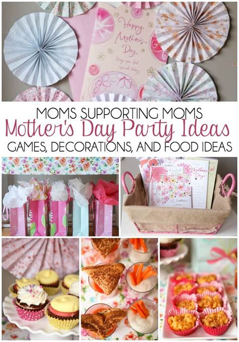 moms helping moms day party ideas