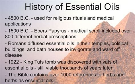 A Brief Profile Of A Few Essential Oils by Brief Timeline About The History Of Essential Oils