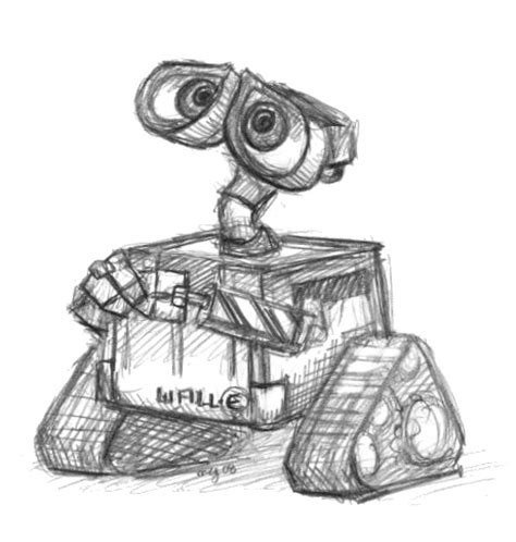 Wall E Sketches by Wall E By Meglyman On Deviantart