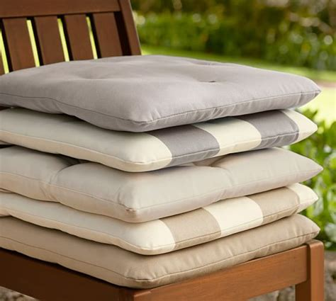 Pottery Barn Chair Cushions by Tufted Outdoor Dining Chair Cushion Solid Pottery Barn