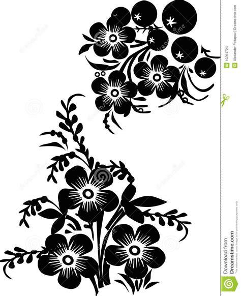 six black flower design stock images image 10264724