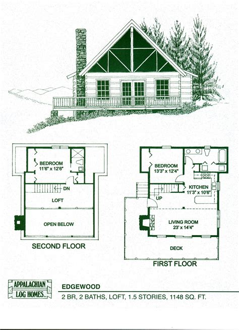cabin floorplans log home package kits log cabin kits edgewood model