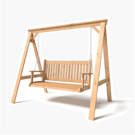 swing modelle 3d model wooden garden swing