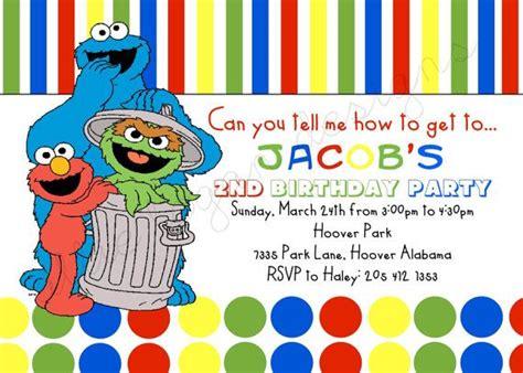 printable birthday invitations sesame street pinterest