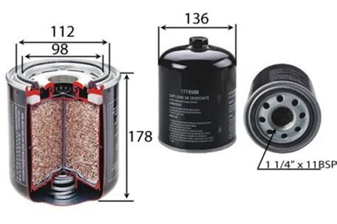 Dryer Filter Toyota Dx fac83015 air dryer filter spin on wabco ba5375 baldwin air dryer filter truck parts and all