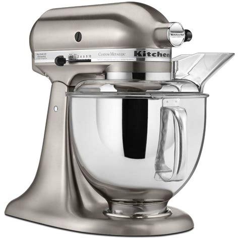 Kitchen Mixer Rental Kitchenaid Custom Metallic 5 Qt Brushed Nickel Stand