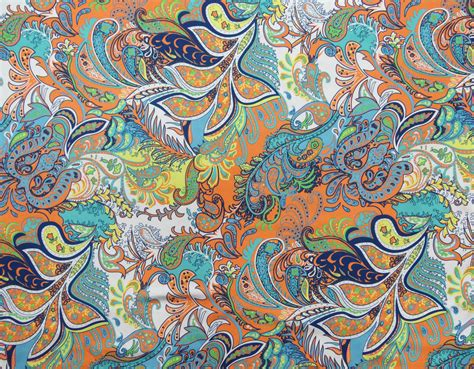 fabric crafts silk paisley digital print fabric satin silk blend dressmaking