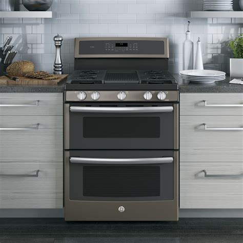 Oven Gas 1 Pintu pgb960eejes ge profile series 30 quot free standing gas oven convection range slate