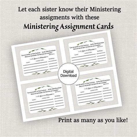 Visiting Teaching Assignment Cards Template by 147 Best Hermanas Ministrantes Images On