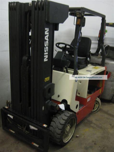 nissan cwgp02l30s electric forklift nissan 60