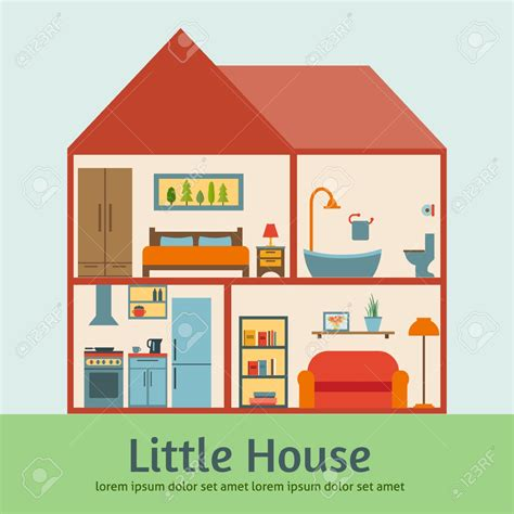 house interior cartoon clipart of rooms inside the house clipartsgram com