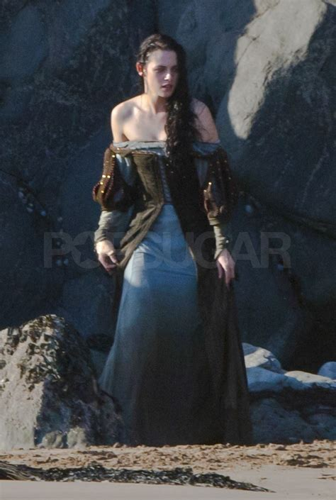 film blue hot blue cold kristen stewart on the set of snow white pictures