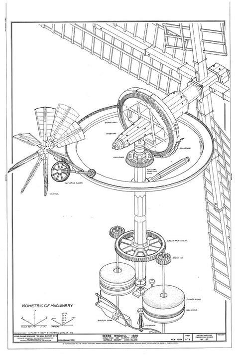 Beebe Windmill Isometric of Machinery Long Island NY