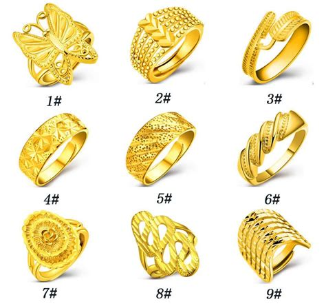 Gold Wedding Ring New Design by 2018 New Design Fashion 18k Gold Ring With Opening