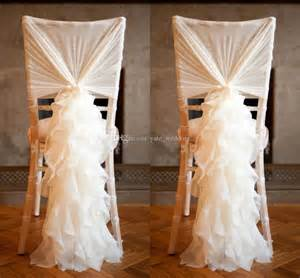 diy chair sashes ruffled ivory chair covers for weddings 30d chiffon