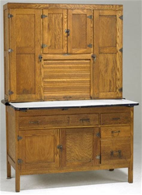Cabinet; Hoosier, Coppes Napanee, Oak, Paneled Doors