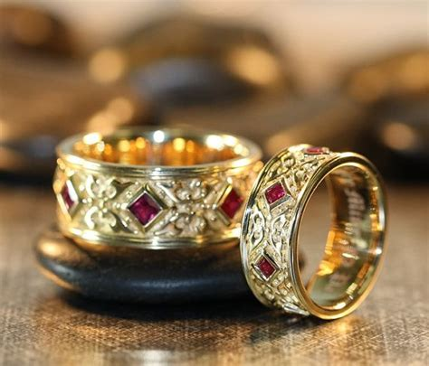 not expensive zsolt wedding rings renaissance style
