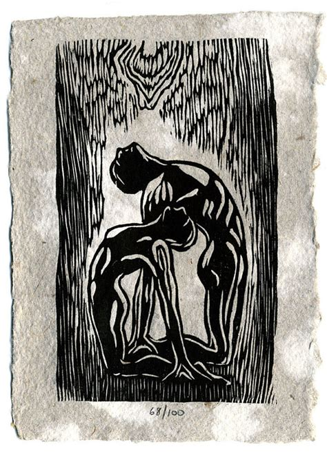 Worship By Handmade - original woodcut print on handmade paper worship classic