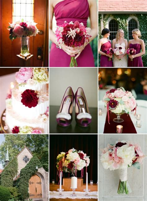 romantic color schemes wedding color palette we love bordeaux blush and cream