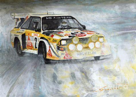 Kaos Print Umakuka Original Rally Car audi quattro s1 print by yuriy shevchuk