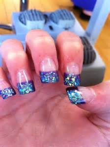 purple crystal gel acrylic nails so cute nails