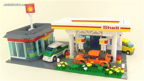 lego shell custom lego shell gas station car wash moc