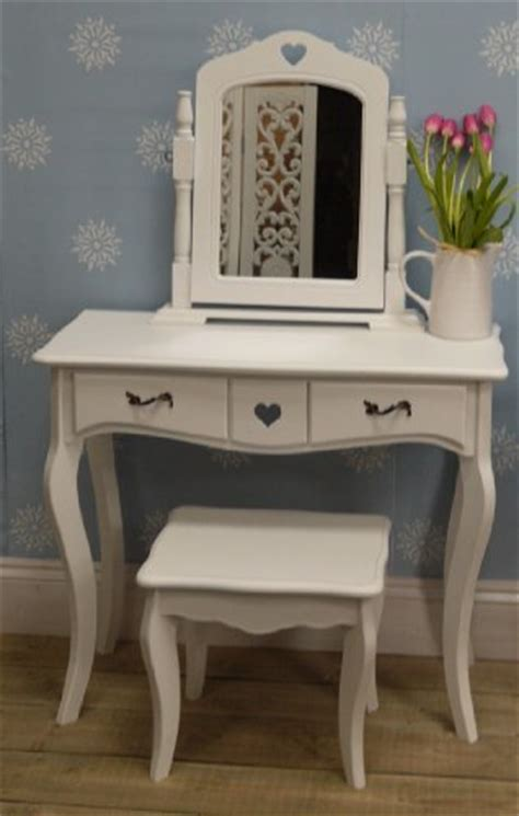 Sweetheart Vanity And Stool by White Dressing Table Vanity Mirror On Stand And Plain