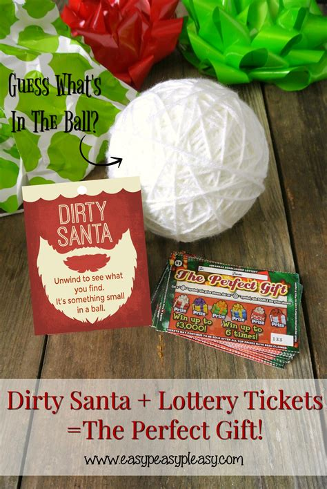 free gift ideas santa lottery tickets the gift easy