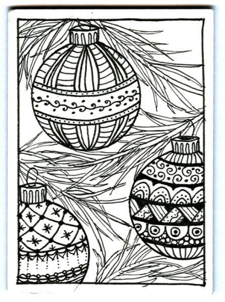 christmas patterns to color christmas ornaments zentangle by plain jane cards and