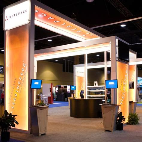 booth design price lumiture internally lit structure is a modular system for
