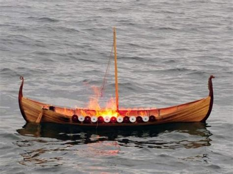 viking fire boat coast guard assists in viking burial at sea the wild hunt