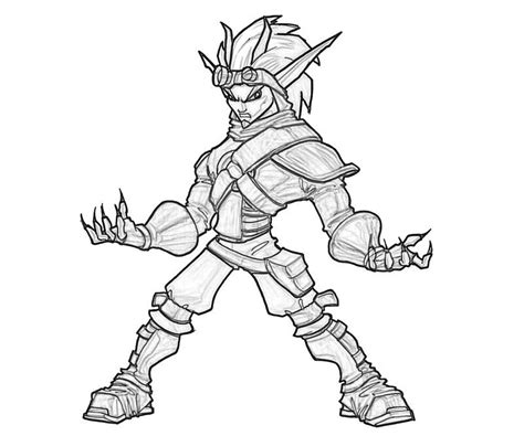 Jak Form 3 How Coloring Jak And Daxter Coloring Pages