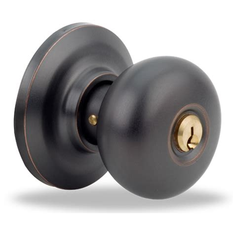 Entry Door Knobs by Shop Yale Security Yh Cambridge Rubbed Bronze