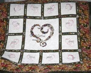 wedding or anniversary quilt made to order wedded
