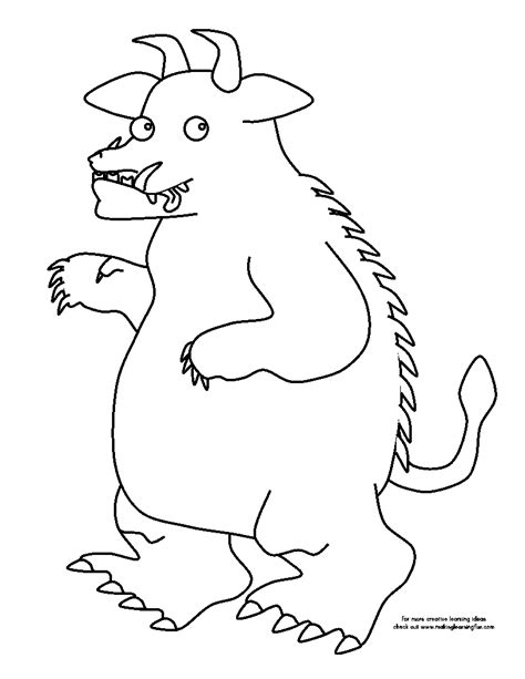 The Gruffalo Colouring Pages Free Coloring Pages Of The Gruffalo Child by The Gruffalo Colouring Pages