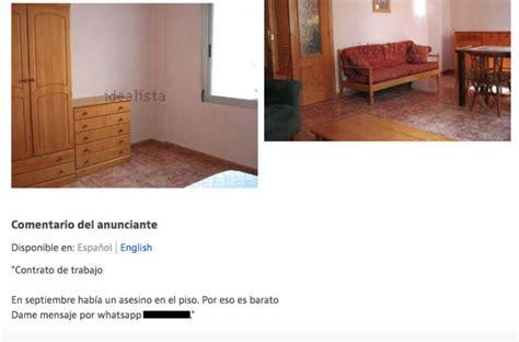 alquiler piso barato valencia se alquila piso barato raz 243 n antes 237 a un asesino