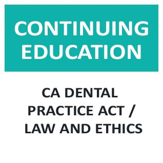 california nursing practice act with regulations and related statutes books ca dental practice act and ethics rda4u your