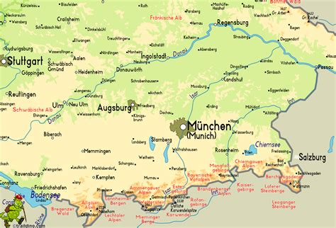 map south germany south germany map