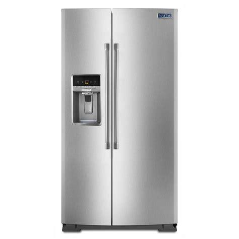 cabinet depth refrigerator lowes shop maytag 20 6 cu ft counter depth side by side