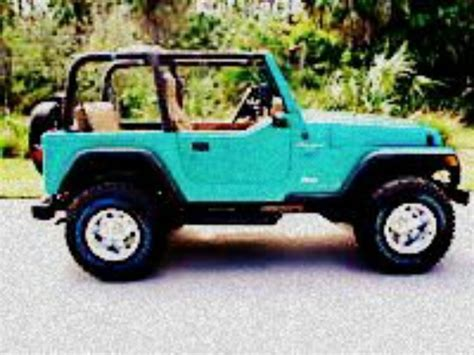 jeep wrangler turquoise for sale teal jeep wrangled i m in love cars pinterest