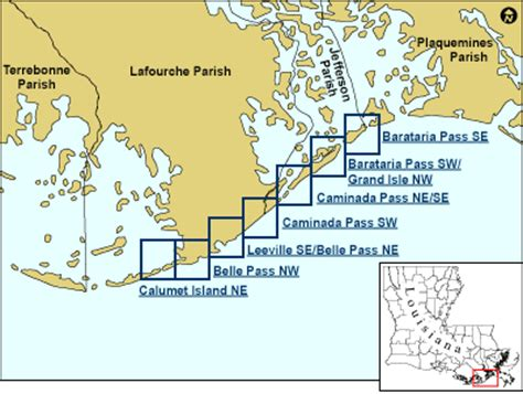 louisiana islands map coastal classification atlas southeastern louisiana
